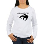 Custom Snowboarding Silhouette Long Sleeve T-Shirt