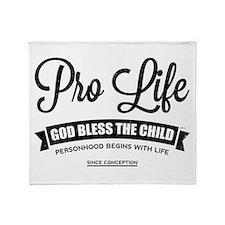 Pro Life Throw Blanket