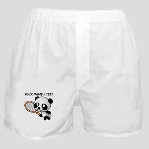 Custom Panda Tennis Player Boxer Shorts