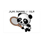 Custom Panda Tennis Player Wall Decal