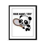 Custom Panda Tennis Player Framed Panel Print