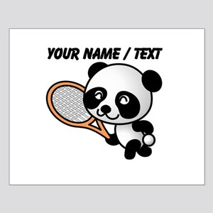Custom Panda Tennis Player Posters