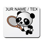 Custom Panda Tennis Player Mousepad