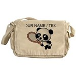 Custom Panda Tennis Player Messenger Bag