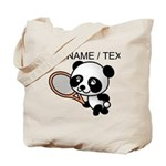 Custom Panda Tennis Player Tote Bag