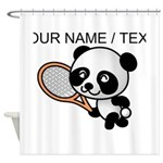 Custom Panda Tennis Player Shower Curtain