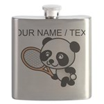 Custom Panda Tennis Player Flask
