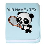 Custom Panda Tennis Player baby blanket