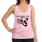 Custom Panda Tennis Player Racerback Tank Top