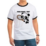 Custom Panda Tennis Player T-Shirt