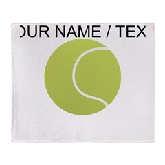 Custom Tennis Ball Throw Blanket