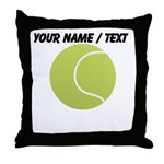 Custom Tennis Ball Throw Pillow