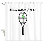 Custom Tennis Racket Shower Curtain