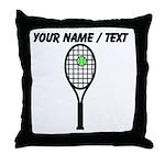 Custom Tennis Racket Throw Pillow