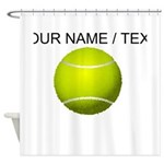 Custom Tennis Ball Shower Curtain