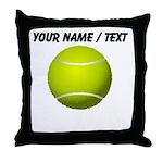 Custom Tennis Ball Throw Pillow
