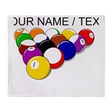 Custom Eight Ball Rack Throw Blanket