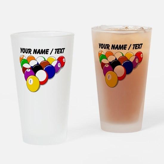 Custom Eight Ball Rack Drinking Glass