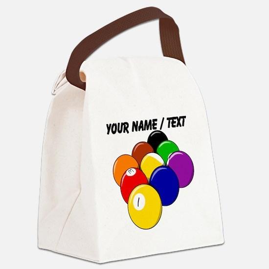 Custom Nine Ball Rack Canvas Lunch Bag