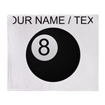 Custom Eight Ball Throw Blanket