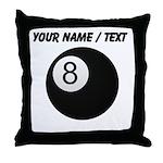 Custom Eight Ball Throw Pillow