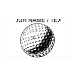 Custom Golf Ball Wall Decal