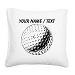 Custom Golf Ball Square Canvas Pillow