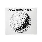 Custom Golf Ball Throw Blanket