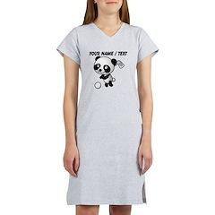 Custom Panda Golfer Women's Nightshirt
