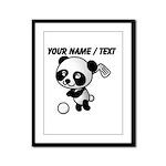 Custom Panda Golfer Framed Panel Print
