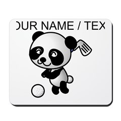 Custom Panda Golfer Mousepad