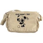 Custom Panda Golfer Messenger Bag