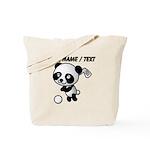 Custom Panda Golfer Tote Bag
