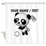 Custom Panda Golfer Shower Curtain