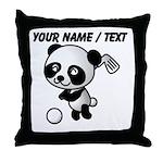 Custom Panda Golfer Throw Pillow