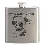 Custom Panda Golfer Flask