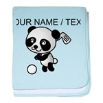 Custom Panda Golfer baby blanket