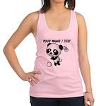 Custom Panda Golfer Racerback Tank Top