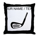 Custom Golf Club Throw Pillow