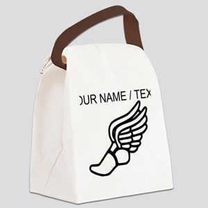 Custom Running Shoe With Wings Canvas Lunch Bag