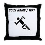 Custom Runner Pictogram Throw Pillow