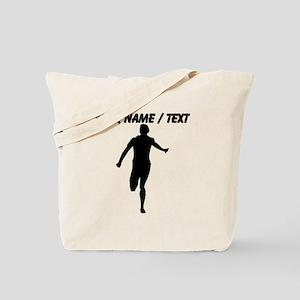 Custom Runner Silhouette Tote Bag