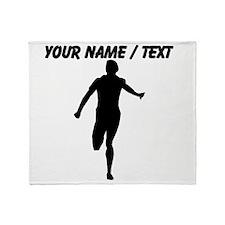 Custom Runner Silhouette Throw Blanket