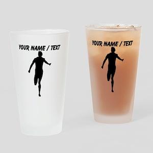 Custom Runner Silhouette Drinking Glass