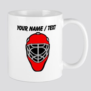 Custom Red Goalie Mask Mug