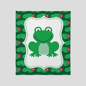 Cute Frog Throw Blanket