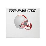 Custom Football Helmet Throw Blanket