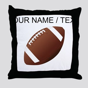 Custom Football Throw Pillow