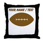 Custom Cartoon Football Throw Pillow