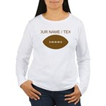 Custom Cartoon Football Long Sleeve T-Shirt